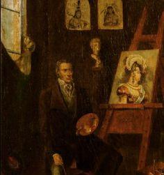 Jean Baptiste Debret pintando a Imperatriz Leopoldina