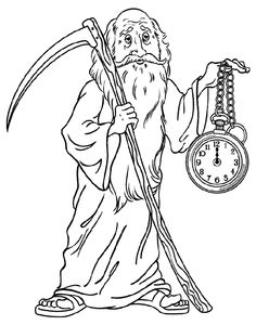 new years father time coloring page