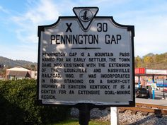 Historical Marker in Pennington Gap, Virginia