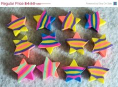 BLACK FRIDAY SALE Mini Erasers  Set of 30  by uniquelyyours2010