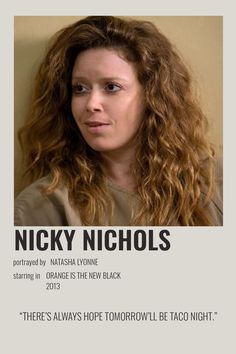 Nicky Nichols, Natasha Lyonne, Orange Is The New Black, Minimalist Poster, Crowley, Polaroids, Poster Wall, Wall Collage, Girl Crushes
