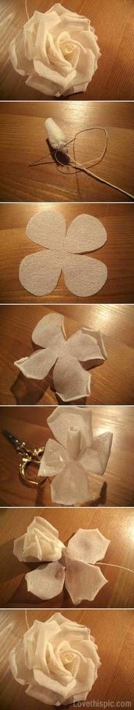 DIY Modular Silk Rose rose diy craft crafts