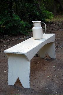 Farm House Style Bench  Need this, sold mine at a garage sale. How Stupid was that?