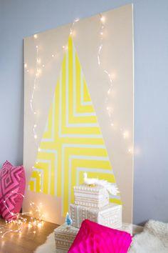 DIY Painted Plywood Geometric Christmas Tree