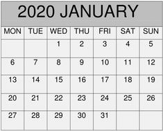 January 2020 Calendar Template: Free Printable January 2020 Calendar Template Blank PDF, Word, Excel, Blank Calendar Pages Editable Template January 2020 Blank Calendar Pages, Print Calendar, Pdf Calendar, Calendar 2020, Free Printable Calendar Templates, Excel Calendar Template, February Calendar, November 2019, Online Calendar