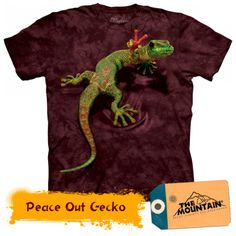 Gecko Shirt Funny Lizard Peace Out T-shirt Tie Dye Adult Tee Wildlife Shirts Animal T-Shirts Tee Available in Small, Medium, Large, XL, & 3d T Shirts, Tie Dye T Shirts, T Shirts For Women, Classic T Shirts, Shirt Designs, Unisex, Clothes, Gift Ideas, Geckos