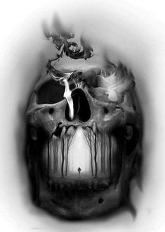 "19 photos of ""tattoo designs of skulls best of 100 awesome skull tatto Skull Tattoo Design, Skull Tattoos, Body Art Tattoos, Sleeve Tattoos, Tattoo Designs, Tattoo Ideas, Tattoo Sketches, Tattoo Drawings, Tatoo"