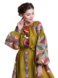 Ukrainian Embroidered Dress