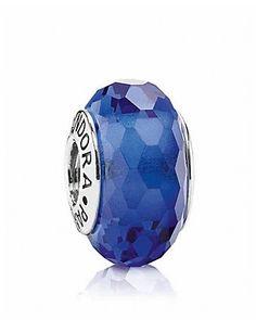 PANDORA Charm - Murano Glass Blue Fascinating |