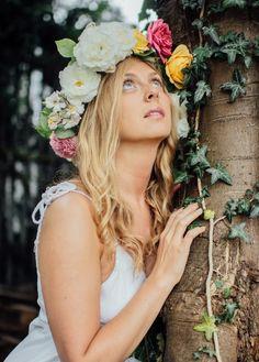 Model: Ylva Hansson Flower Crown, Fairies, Photoshoot, Party, Model, Flowers, Photography, Flower Headdress, Fotografie