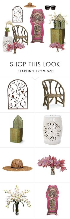 """""""House Day"""" by ursulakoenig on Polyvore featuring Currey & Company, Capital Garden Products, Home Decorators Collection, KOCCA, The French Bee, Nearly Natural, National Tree Company and Roberto Cavalli"""