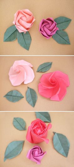 DIY: origami roses  @Callie Wegren, you will love these