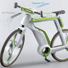 This Bike Will Purify the Air : DNews: http://news.discovery.com/tech/gear-and-gadgets/this-bike-will-purify-the-air-131210.htm  #technology #greentech
