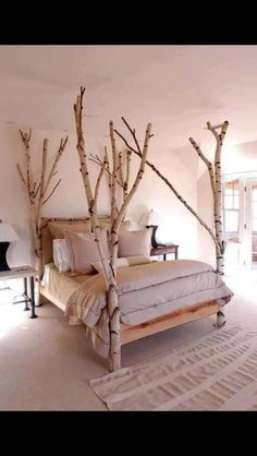 I've always wanted to do this as posts for my bed but I was going to add a canopy over the top of it, and add some vines maybe...
