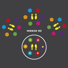 Mirror Me 3 Stations - School & Nursery Fun Games Playground Marking Playground Painting, Playground Games, Outdoor Playground, Fun Games, Games For Kids, Activities For Kids, Asphalt Games, Sensory Pathways, Parque Linear