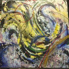 Qu'as-tu à la maison? 30x30 Disponible #katialauture  #acrylics #acrylique #art  #mixedmedia #techniquemixte #epoxy #abstrait #abstract #dripping #texture Dripping, Art Abstrait, Les Oeuvres, Texture, Painting, Budget, Acrylic Paintings, Yellow, Home