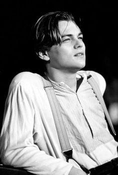 Leo as jack Dawson in Titanic