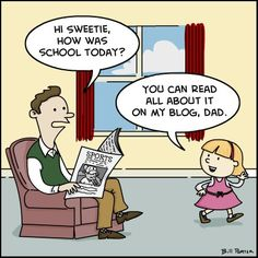 digital natives - Google Search  A cartoon image of parent-child communication affected by technology