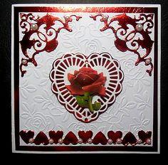 carte pour la st Valentin faite en janvier 2017