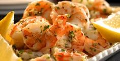 Shrimp, with lemon, garlic, herbs and white wine