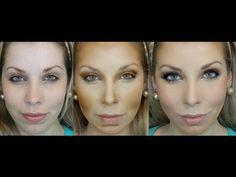 Antes e Depois do contorno | Maquiagem | KeepCalmDIY