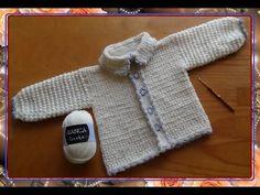 Жакет с узором ЗВЕЗДОЧКИ. Часть 1 .Knit crochet - jacket patterned with an asterisk. Part 1 . - YouTube