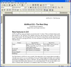 """AbiWord is a free word processing program similar to Microsoft® Word. It is suitable for a wide variety of word processing tasks. The main AbiWord program is very small and requires very little resources to run. This allows AbiWord to be used on systems that are not considered """"State of the Art"""" anymore, which comes all too quickly in the IT world."""