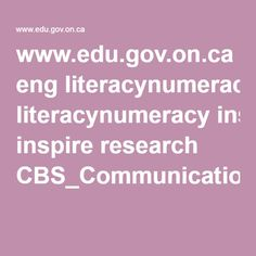 www.edu.gov.on.ca eng literacynumeracy inspire research CBS_Communication_Mathematics.pdf