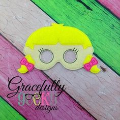 LE Girl 1  Mask Embroidery Design - 5x7 Hoop or Larger