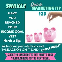Have you reached your income goal in your #Shaklee business yet/ Click the link to see how to take your business to the next level:  http://iwritemypaycheck.com/bsmpp/?t=pinterest-shaklee-business-11015