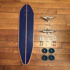 Longboard skate de la boutique HandmadeCruiser sur Etsy