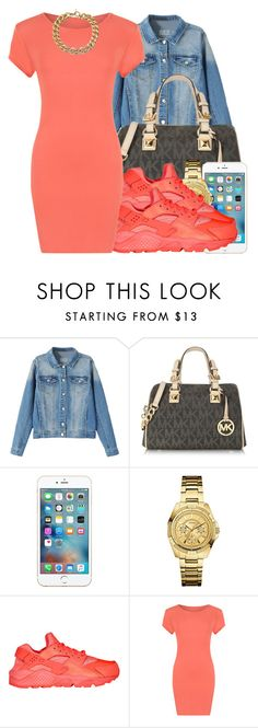 """112015"" by polyvoreitems5 ❤ liked on Polyvore featuring Michael Kors, GUESS, NIKE and WearAll"