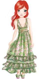 Resultado de imagen de top model biz para colorear Nice Dresses, Girls Dresses, Flower Girl Dresses, Cute Clipart, Photo Album Scrapbooking, Cute Illustration, Pretty Face, Nice Tops, Art Girl