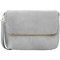 George J. Love Under-Arm ($45) ❤ liked on Polyvore featuring bags, handbags, clutches, purses, accessories, light grey, genuine leather handbags, hand bags, leather man bags and handbags purses