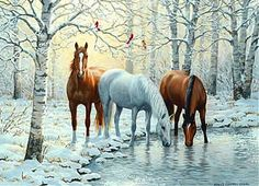 'Winter Trio' by Persis Clayton Weirs