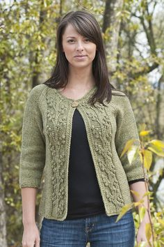 Ravelry: Bobble Vine Jacket pattern by Edie Eckman