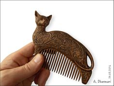 "Items similar to Wooden comb ""Flowering Cat"" Haircomb Hair Care Hair accessories Woodcarving Wood art Wooden cat Hairpin Wood craft on Etsy Wood Comb, Wooden Roses, Wooden Cat, Carving Designs, Hair Sticks, Handmade Wooden, Wood Carving, Barn Wood, Wood Art"