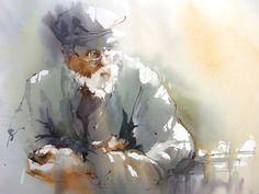 I love the looseness of this painting! Murielle VANHOVE | Société Française de l'Aquarelle #watercolorarts