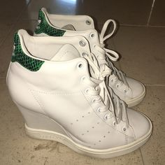 Adidas Stan Smith limited edition wedge sneakers Worn once, beautiful limited…