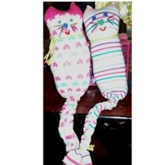 Sock Kitty Craft--the girls are obsessed with kitties so I think they would love this!