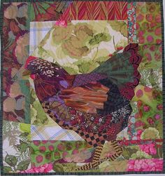 quilts with chickens   by Ruth Mc Dowell #paper pieced #quilt