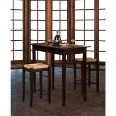 Home Decorators Collection Hubbard Lane 3 Piece Cherry Bar Table