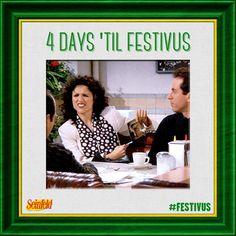 4 Days 'Til Festivus | source: Official Seinfeld Facebook Page