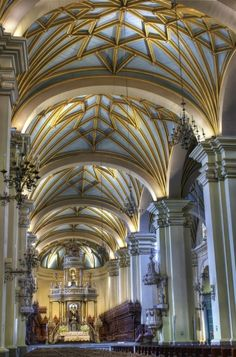 Cathedral of Lima, Peru, originally built in 1538