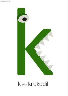letter k van krokodil Alphabet Crafts, Letter A Crafts, Alphabet Activities, Free Preschool, Preschool Activities, Grade R Worksheets, Letter Of The Week, Letter K, Educational Crafts