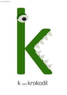 * K van krokodil