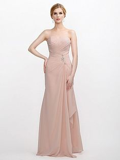 Mermaid Chiffon Bridesmaid Dress Featured with Ruched Bodice and Side Brooch