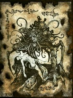 The DEMON of DAGOTH HILL Necronomicon page Cthulhu larp by zarono