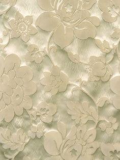 FANTASIA CREAM #faux-silk #flocked-embossed #floral-botanical #white-natural #woven-fabrics