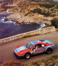 Andruet on his way to second on the 1982 Tour de Corse